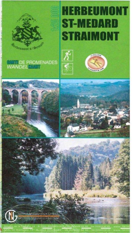Carte des promenades d'Herbeumont