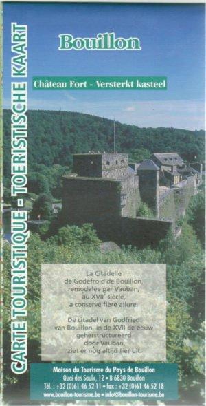 Carte de la Semois touristique Bouillon-Florenville